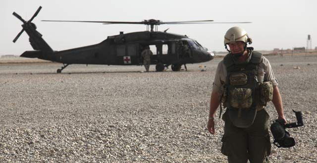 Vaughan Smith in Afghanistan